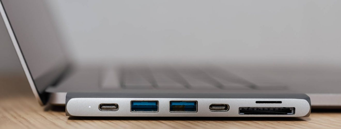 usb adapter under type c connector for laptop